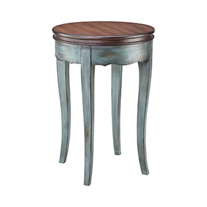 Hartford Moonstone Blue Accent Table