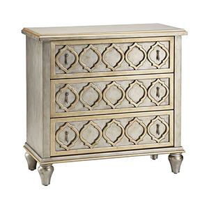 Naomi Hand-Painted Champagne and Silver Chest