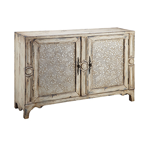 Brooke Hand-Painted Aged Cream Cabinet