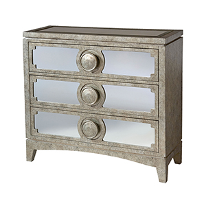 Carlton Hand-Painted Champagne and Black Chest