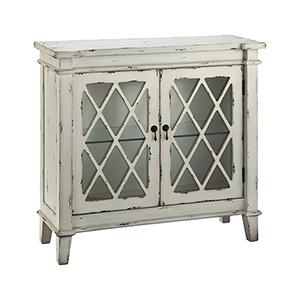 Goshen Hand-Painted Antique White Cabinet