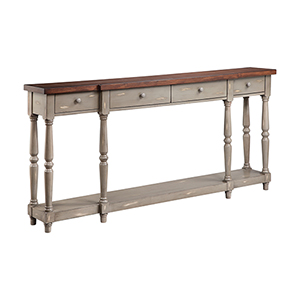Simpson Hand-Painted Gray Console Table