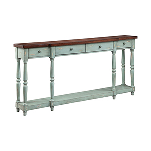 Simpson Hand-Painted Blue Console Table