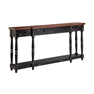 Simpson Hand-Painted Black Console Table