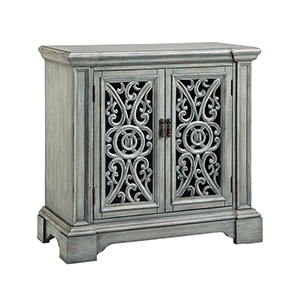 Audra Hand-Painted Gray Blue Cabinet