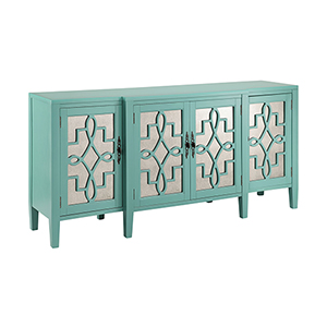 Lawrence Hand-Painted Turquoise Cabinet