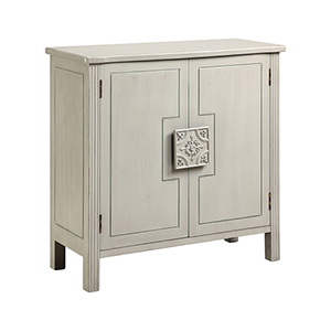 Sophia Hand-Painted Pearl White Cabinet