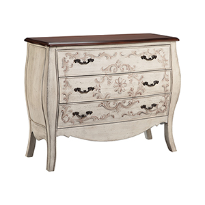 Fiona Hand-Painted Antique Pearl White Chest