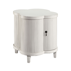 Juliette Hand-Painted White 24-Inch Cabinet
