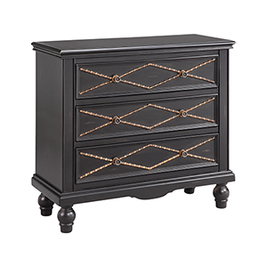 Marley Hand-Painted Black and Burnished Gold Chest