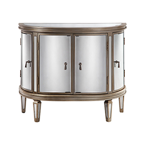 Kingman Hand-Painted Champagne Cabinet