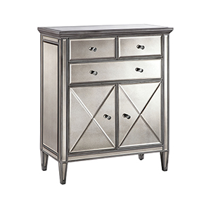 Dana Hand-Painted Silver Cabinet