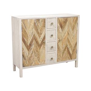 Derron Hand-Painted Whitewash Cabinet