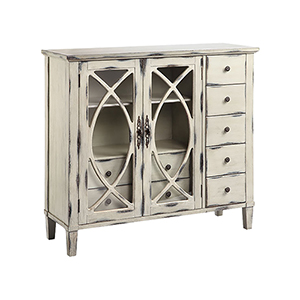 Briley Hand-Painted Black and White Cabinet
