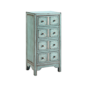Evelyn Hand-Painted Blue and Gray Chest