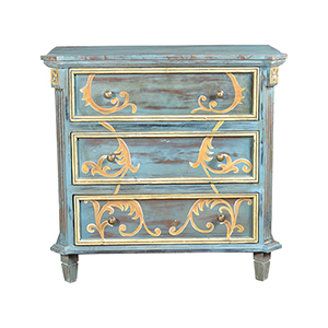 Chanda Blue and Gold Chest