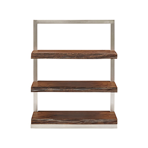 Climber Silver and Wood Shelf