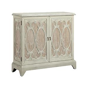 Daphne Hand-Painted Cream Cabinet