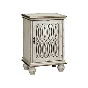 Wiley Hand-Painted Aged Cream Cabinet