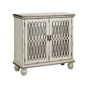 Wilton Hand-Painted Cream and Black Cabinet