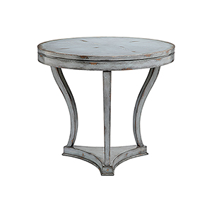 Ingalls Antique Gray and Brown Accent Table