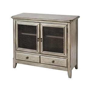 Walsh Antique Silver Leaf Cabinet