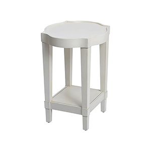 Byrnes White Accent Table