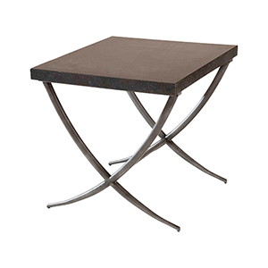 Valencia Black and Antique Silver Side Table