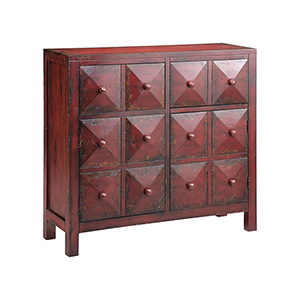 Maris Hand-Painted Red Cabinet