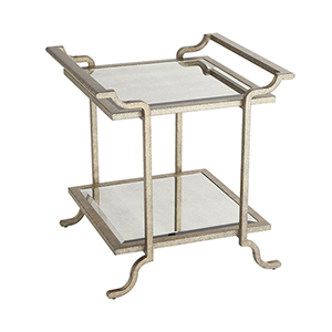 Gatsby Iron and Glass Accent Table
