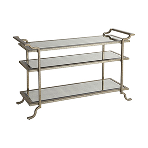 Gatsby Iron and Glass 18-Inch Coffee Table