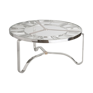 Benjamin Gold and Chrome Coffee Table