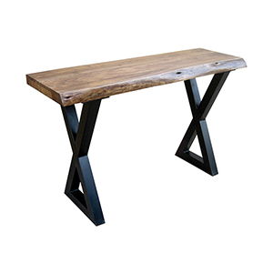 Living On The Edge Wood and Black Console Table