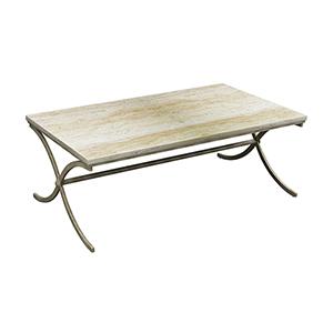 Sanibel Antique Bronze and Chalk Coffee Table