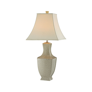 Honora Asian Ivory One-Light Table Lamp