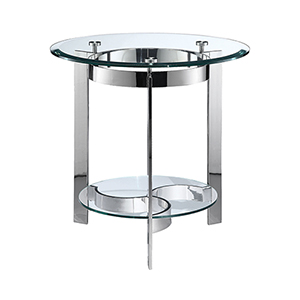 Mercury Stainless Steel Side Table