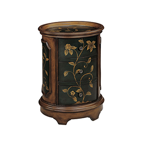 Ophelia Black and Brown Accent Table