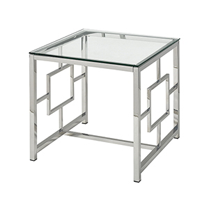 Winter Palace Stainless Steel Accent Table