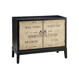 Station Hand-Painted Dark Espresso Cabinet