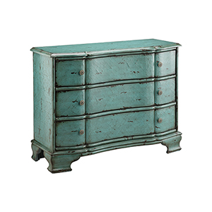 Ilana Hand-Painted Blue Chest