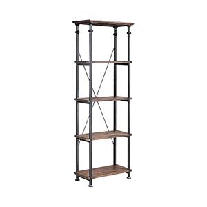 Poplar Estates Dark Wood Cabinet