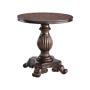 Ellsworth Distressed Wood Pedestal Table