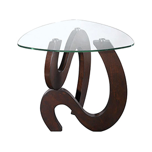 Nassau Merlot Stainless Steel Accent Table