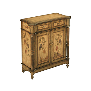 Orchard Green and Antique Tan Cabinet