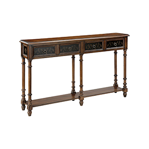 Taylor Distressed Black Console Table