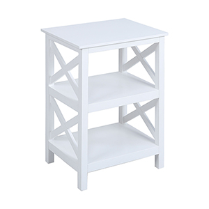 Pismo Beach White Bookcase