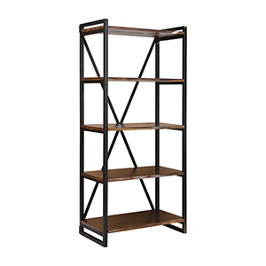 South Loop Acacia Wood 34-Inch Bookshelf