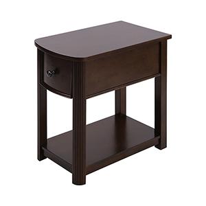 Reaburn Dark Cherry and Bronze Accent Table