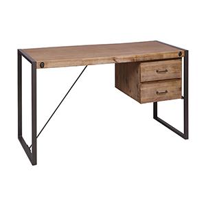 Armour Square Grey Bronze Desk