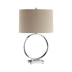 O Motif Chrome One-Light Table Lamp